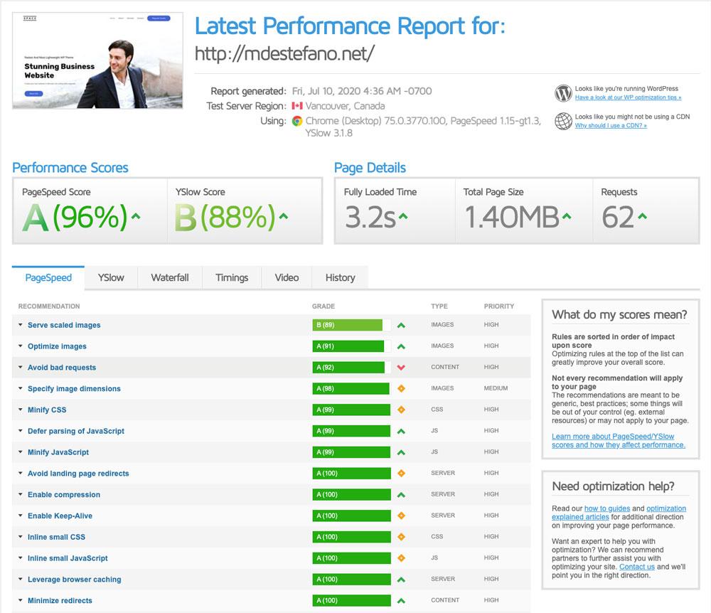 Prestazioni Hostinger - hosting per wordpress semplice e veloce