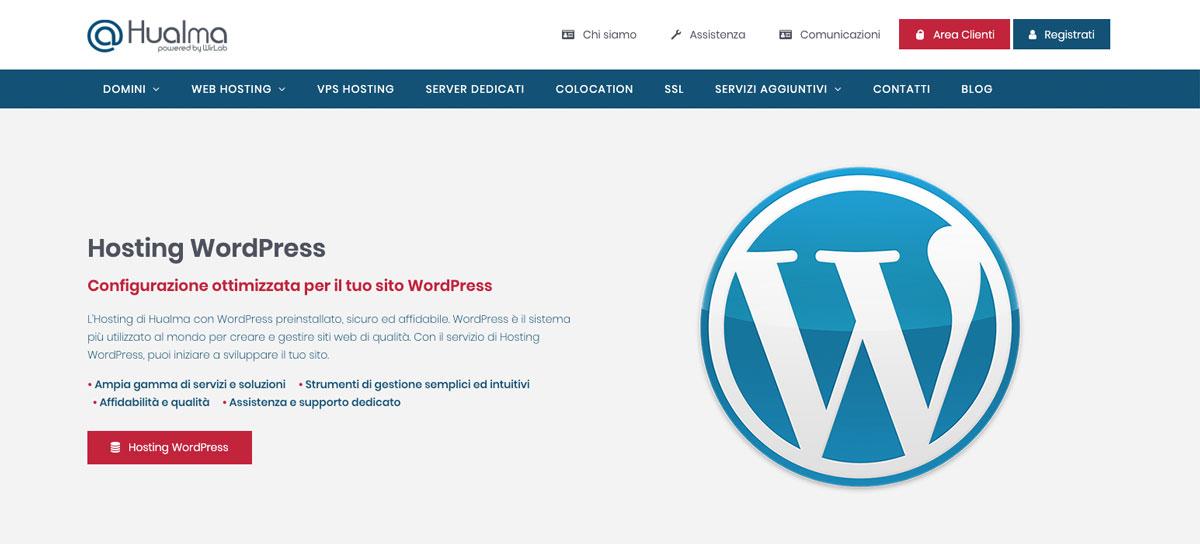 hosting provider per WordPress