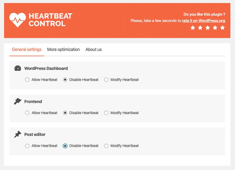 limitare utilizzo della cpu wordpress disabilitare heartbeat